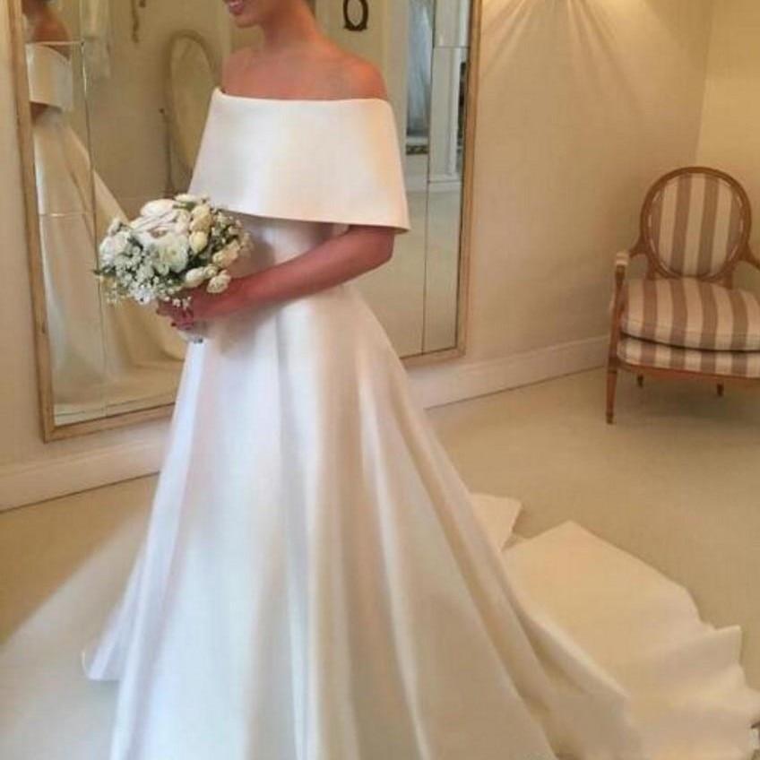 e77a8ca1c2b8 casamento Fashionable Wedding Gown A Line Long Bridal Dresses Vestido De  Noiva gelinlik Wedding Gowns Capped