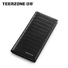 Teemzone Men Clutch Bags Genuine Leather Wallet Man Business Casual Handbags Cowhide Purse Men's Wallet Brand Mens Wallets