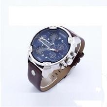 Luxury 53mm case watches Men Fashion Sport leather Calendar Quartz watch