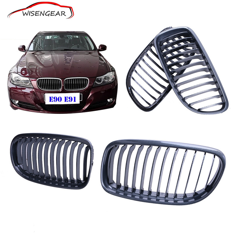 M Sport Carbon Black Look Front Grill Kidney Grilles For BMW 3 Series  E90 LCI 2009 2010 2011 C/5 стоимость