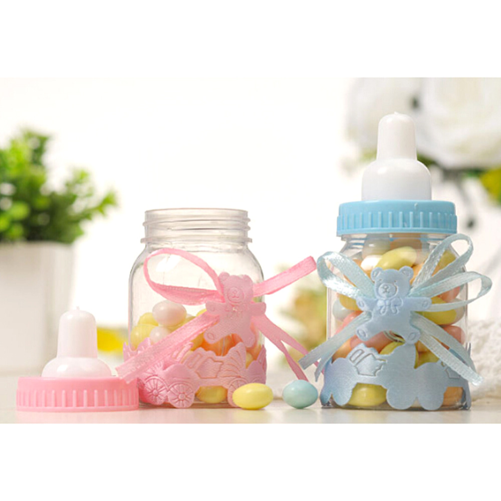 24pcs / lot Baby Bottle Candy Box Party Supplies Baby Shower Baptism ...