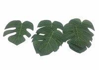باي شينغ النباتات الاستوائية الخضراء يترك الاصطناعي هاواي لوا حزب شاطئ موضوع الغاب زينة ، مجموعة من 24