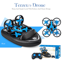 JJRC H36F RC Mini Drone 3in1 TERZETTO Boat Car Water Ground Mode Air Mode Altitude Hold Headles Mode RC Helicotpte for Kids Gift