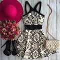 Активные Спагетти Ремень Выдалбливают Цветочный Принт Dress For Women
