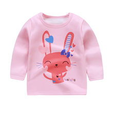 CYSINCOS Baby Boys Girls Clothing 2018 Spring Autum Cartoon Embroidered T Shirt Baby Long Sleeve Tops Cotton Infant Kids Clothes(China)