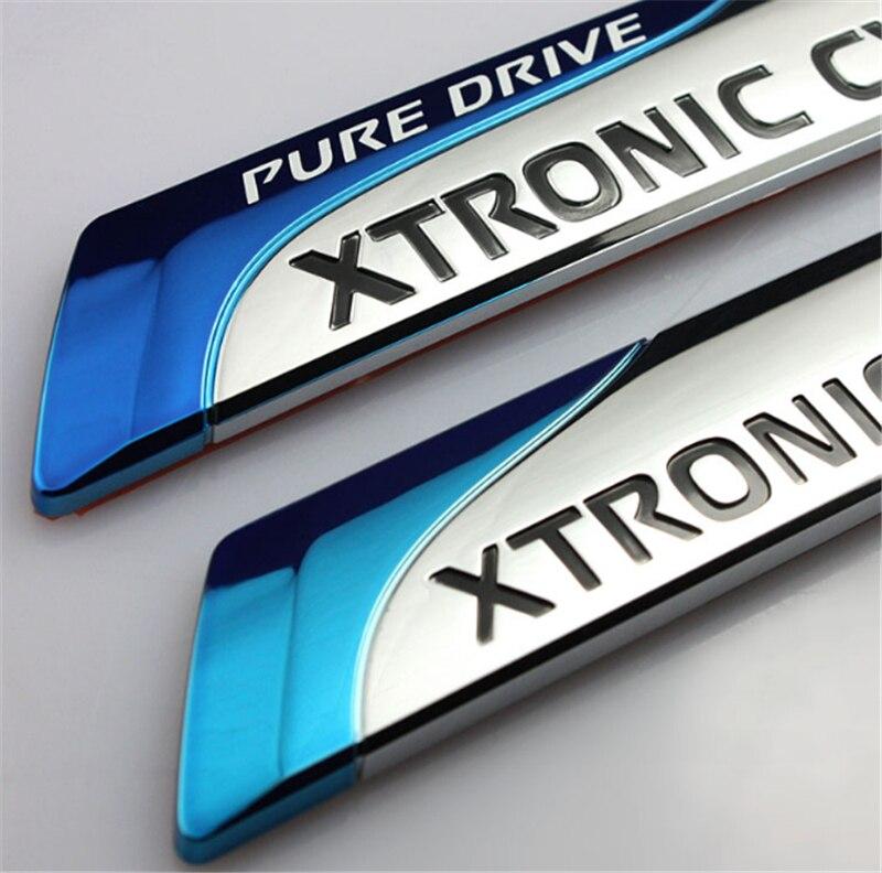 3D Car Sticker For Nissan Metal Pure Drive XTRONIC CVT Nismo Emblem  Decal Car Styling for Nissan Qashqai X-trail Juke Sunny