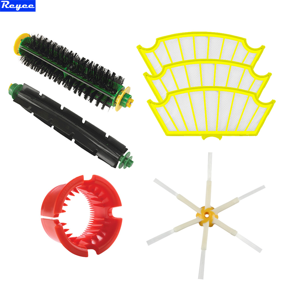 цены на For iRobot Roomba 500 Series Brush filter 530 540 550 560 570 580 551 561 555 Bristle Flexible Beater Brush Cleaning Tools New в интернет-магазинах