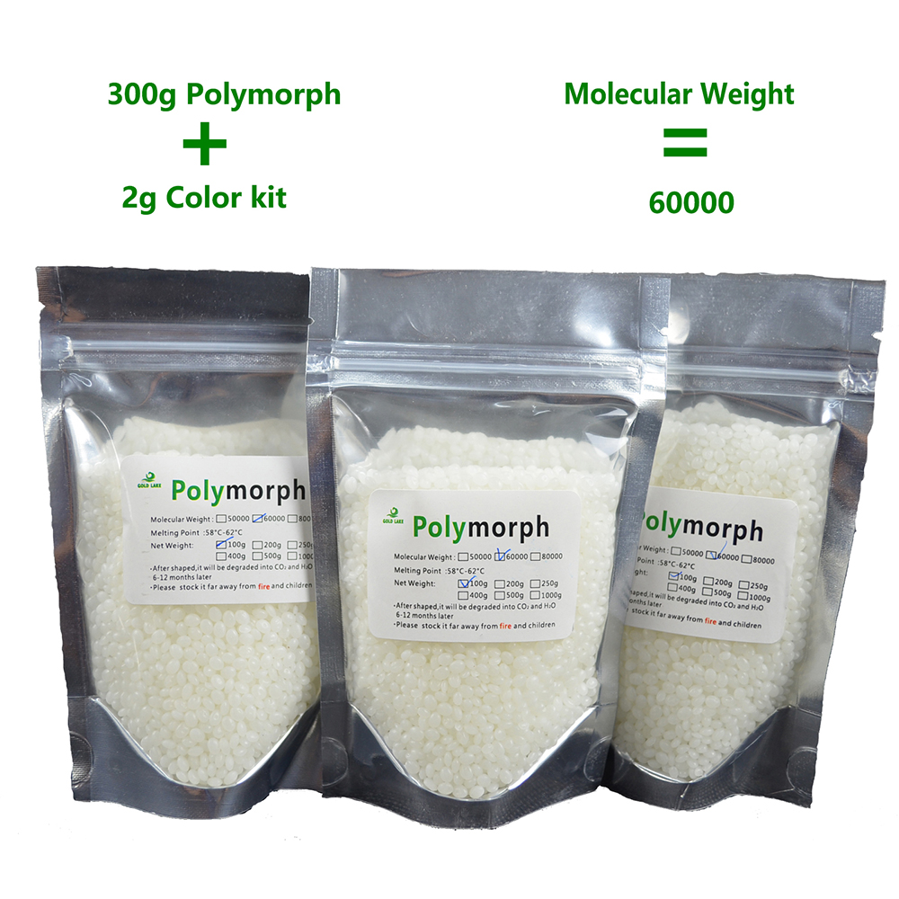 300g PCL 2g color pigment instamorph Shape Shifter Thing moldable plastic plastimake polymorph thermoplastic for hobbyist