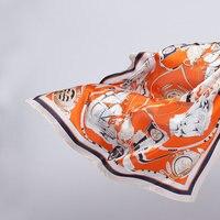 W. Jacinta La bufanda naranja y velero impreso PAÑUELO de seda de la bufanda de seda del todo-fósforo ocupación negocio al por mayor de la fábrica