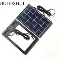 BUHESHUI 6W 6V Solar Cell Polycrystalline Solar Panel DIY Solar Power System For 3.7V Battery Charger Led Light DC 5521 Cable 3M