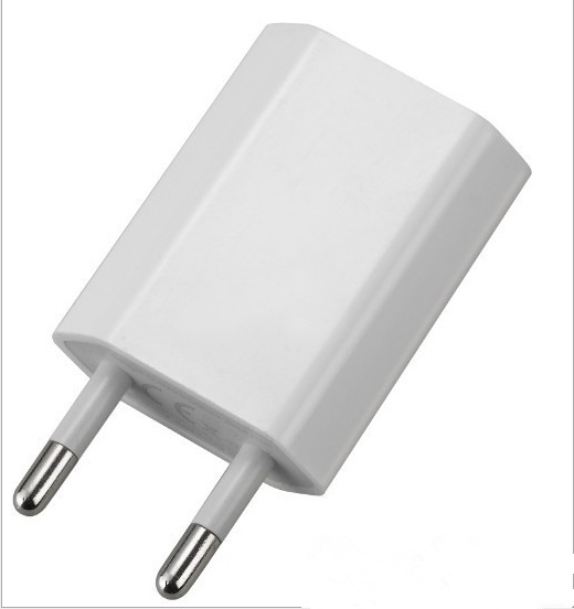 <font><b>5V</b></font> 1A EU Plug Travel <font><b>USB</b></font> <font><b>Wall</b></font> <font><b>Charger</b></font> for iPhone Samsung HTC Phone Adapter <font><b>usb</b></font> <font><b>charger</b></font> black color Drop Shipping image