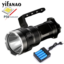72000Lums XHP50 LED Lantern Searchlight Rechargeable 18650 LED Flashlight Torch Light Battery Aluminum Lamp Powerful FlashLights