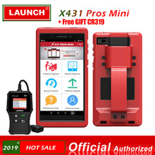 Launch X431 Pros mini Pro Mini  WiFi Bluetooth Connector Scanner Diagnostic Tool Full System 2 Years Free Update Tablet PC OBD2 2017 new launch x431 easydiag 2 0 obd2 bluetooth adapter original launch easydiag free diagnostic cable for android ios as gift