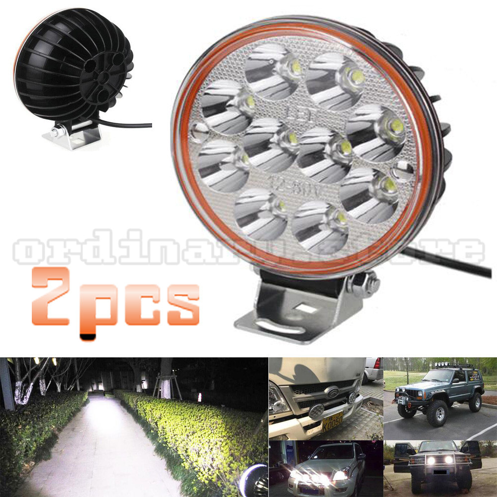 2pcs Ultra Bright Round 30W LED Car 4WD Truck Offroad SUV ATV Bar 4x4 Boat LED Fog Work Light Driving Spot Night Lamp Waterproof 21w round led work offroad light spot lamp 10 30v led driving light 4wd atv boat truck 4x4 tractor motorcycle working headlight