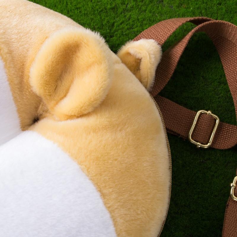 MSMO Chibi Corgi Butt Backpack პატარა Cute Pet Dog Plush - ზურგჩანთა - ფოტო 5