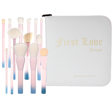 YAVAY  first love 2017 Gradient Color Professional Makeup Brushes Set Pro 14pcs Cosmetic Brush Set with Leather Bag Pink