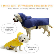 Large Dog Clothes Raincoat Waterproof Suits Dot Rain Cape Pet Clothing For Big Dogs Hooded Jacket Poncho Pet Rain Coat(China)