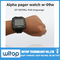 Text message watch Pager, Pocsag paging system receiver, alpha pager watch, wireless waiter call, nurse call service