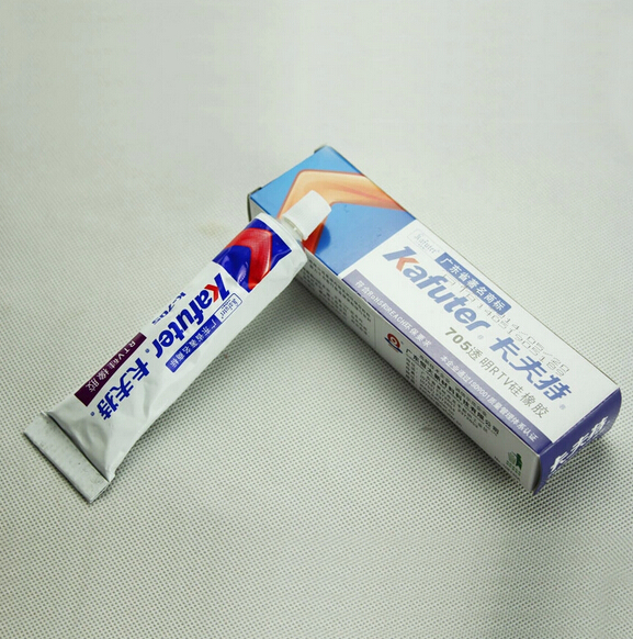 2pcs Genuine Kafuter k-705 Sealant Transparent Organosilicon 45g RTV Silicone Rubber Electronic Glue
