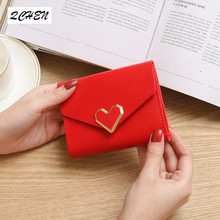 Wallet Female PU Leather Women Wallets Love Hasp Coin Purse Vintage Fashion Small Card Holder 262