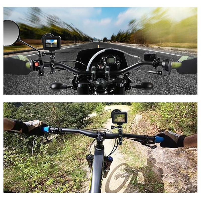 Aluminum Bicycle clamp 360 Degree Rotation Bike Handlebar Adapter Mount & Screw For GoPro Hero 7 6 5 DJI OSMO Action Camera (3)