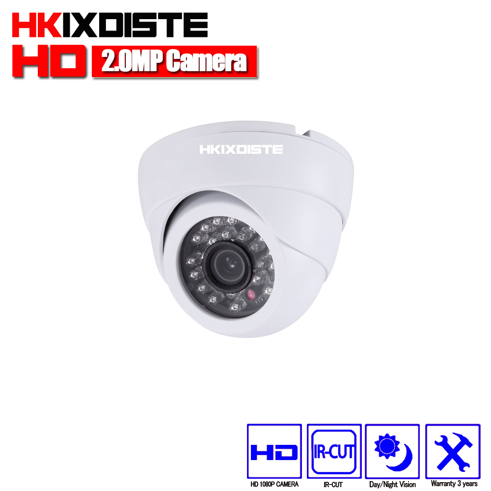 где купить HKIXDISTE Home HD 3000TVL Video Surveillance 2MP AHD Indoor Mini Black Dome infrared Security 1080P CCTV Camera Free Shipping по лучшей цене