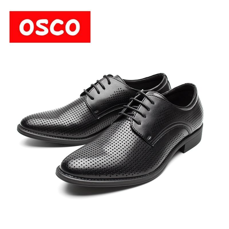 OSCO Office Oxfords Hollow transpirable zapatos hombres 2018 verano - Zapatos de hombre