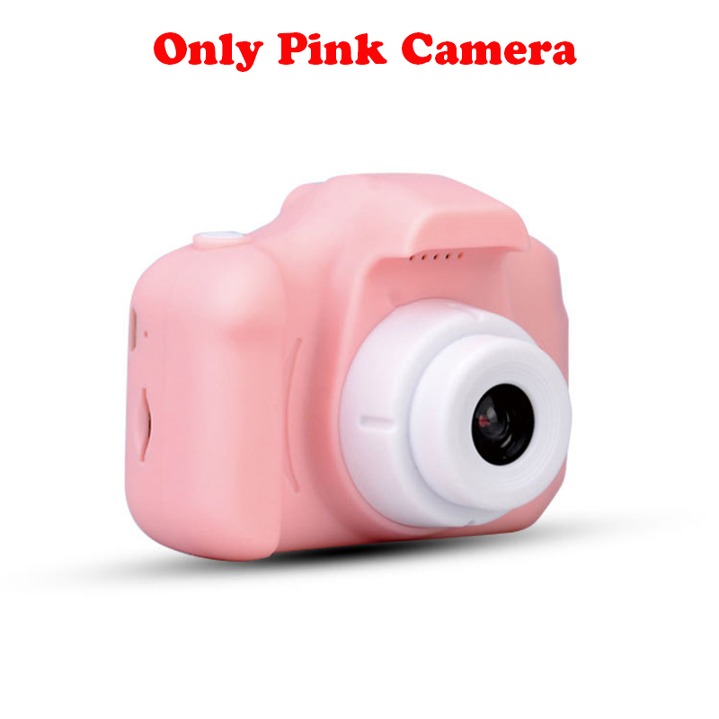 13.0MP перезаряжаемая детская мини-цифровая камера 2,0 дюймов HD экран видеомагнитофон видеокамера язык переключение тайм съемки - Цвет: Pink without TF card