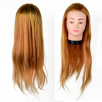 100 Fiber Training Models Head Gold 22 Inch Mannequin Head Practice Salon Hair Training Model Heads