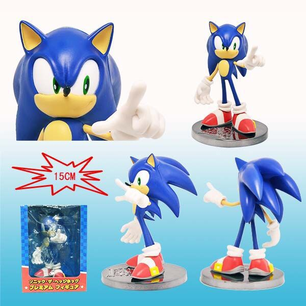 15CM Sonic Hedgehog Action Figure PVC Collection figures toys Anime for christmas gift brinquedos with Retail box hot sale 26cm anime shanks one piece action figures anime pvc brinquedos collection figures toys with retail box free shipping