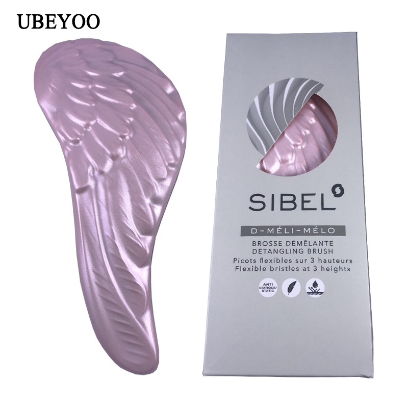 UBEYOO Hot Sale Tangle Comb Hair Brush Professional Anti-static Hairbrush Tangle Angel Wings Comb Escova De Cabelo Profissional