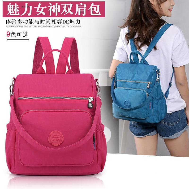 NEW Multipurpose Backpack Women Fashion Mochila Trend Canvas Backpack Waterproof School Bags 4 Colors Traveling Duffel Bag