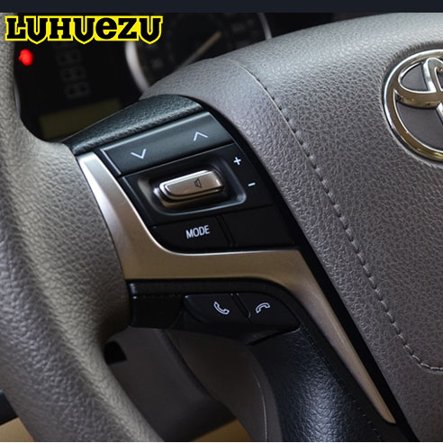 2016 2017  Multi-Function Car Steering Wheel Audio Control Switch/Button For Toyota Land Cruiser 200 FJ200 LC200 Accessories new product factory price high quality steering wheel audio control buttons for kia k2 rio steering wheel button