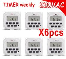 220V 7 Days Programmable BIG LCD 1.6 inch Time Switch with UL listed Relay inside Timer Electric Programme цена