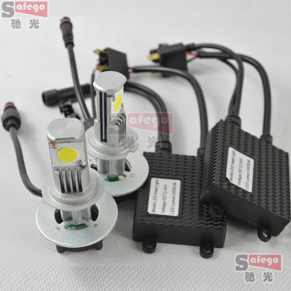 1 set 50w/set ,25w/bulb h7 led headlight kit 2400lm cree 12v lamp h7 ...