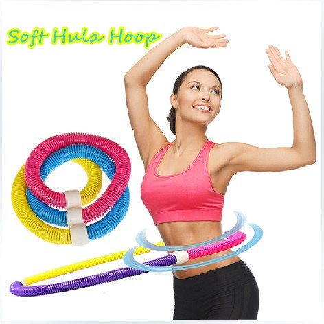 ФОТО 1.1KG, New Weighted Colorful Adult Soft Spring Hula Hoop For Weight Loss Fitness Equipment
