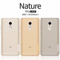 Xiaomi Redmi Note 4 Case TPU Back Cover NILLKIN Nature Clear TPU Transparent Soft Case For