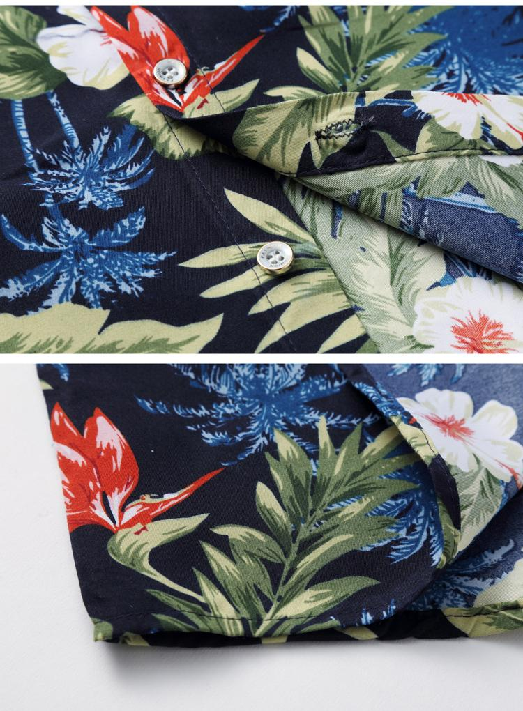 Beach style Blouse Men 39 s Clothes Slim Fit Floral Hawaiian Shirts Floral Loose Short sleeve Flower Shirts Mens Plus Size M 7XL in Casual Shirts from Men 39 s Clothing