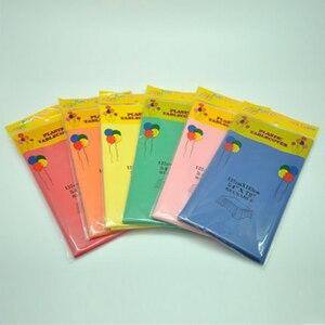 Image 4 - 137*183 เซนติเมตรพลาสติก Tablecloths Table Cover Party Decor สีทิ้งสีแดง/สีชมพู/สีส้ม/สีฟ้า /สีเหลือง/สีเขียวผ้ากันน้ำ