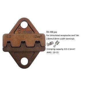 Image 5 - Sıkma aracı 5 in 1 sıkma pense çok fonksiyonlu aracı elektrik kablosu için uygun çeşitli terminal pense seti
