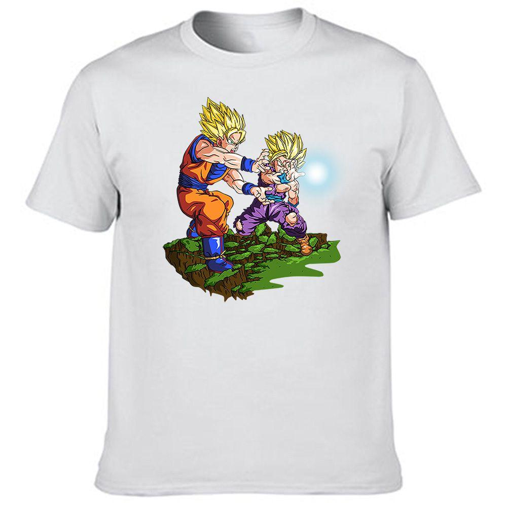 Design shirt japan - Kamekameha Goku And Gohan T Shirt Japan Anime Design T Shirt Men S Print Top Tee