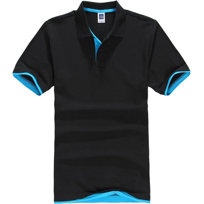 New Mens Polo Shirt Men Cotton Polyester Short Sleeve Shirt Clothes