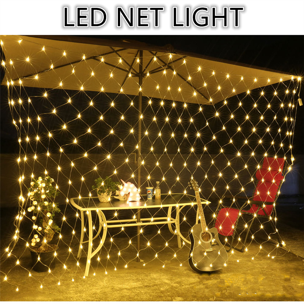 Led Net Light Christmas Holiday Light 1.5*1.5 3*2 6*4 8*10 With Remote Controller Christmas Decorations For Home Holiday Party