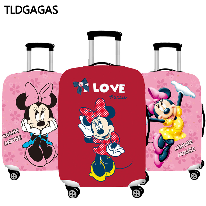 Mickey Pattern Elastic Luggage Cover Protector Dustproof18-32 Inch Trolley Suitcase Case Protective Covers Travel Accessories