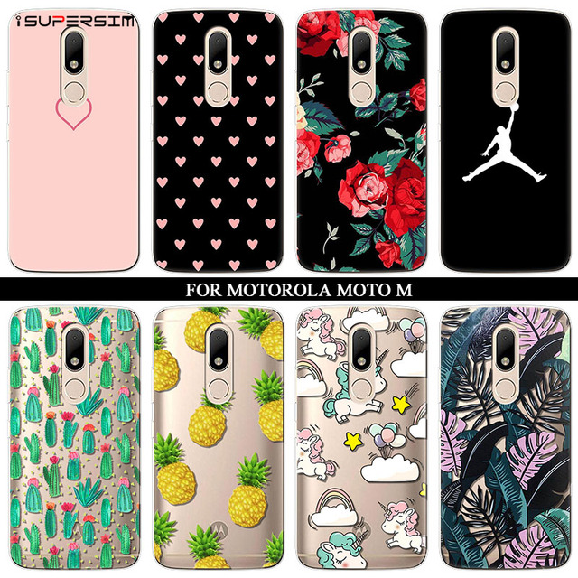 new arrivals fda7b b7fd2 US $1.17 14% OFF|Case for Motorola Moto M Case Cute Cell Phone Cartoon  Silicone Ultra Unicorn Cactus Thin Soft TPU Rubber Transparent Cover-in  Fitted ...
