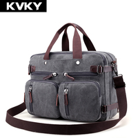 KVKY Brand Men Handbags Canvas Shoulder Crossbody Bags Men Messenger Bags Solid Man Casual Travel Multifunction