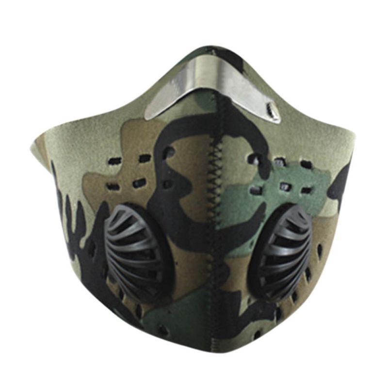 Cycling Face Mask Half Face Mask Anti-Dust Outdoor Sports Mask Carbon Protective Filter Air Pollutant for Bicycle Riding rockbros bike cycling anti dust half face mask with filter neoprene size s