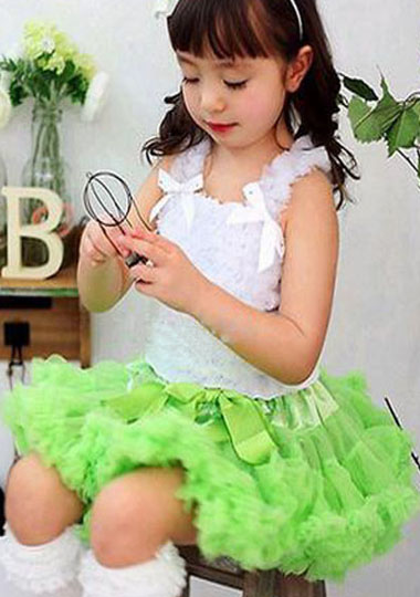 Юбка для маленьких девочек; детская Пышная юбка-американка для девочек; винно-красная юбка-пачка; детская юбка; пышная юбка-пачка для маленьких девочек; - Цвет: lime green