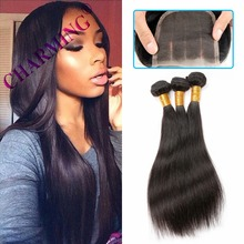 Charming 8A Straight Virgin Hair 2 pcs Weft & 1 pc Closure Vietnamese Human Hair Bundles Wig Vietnamese Virgin Hair With Closure