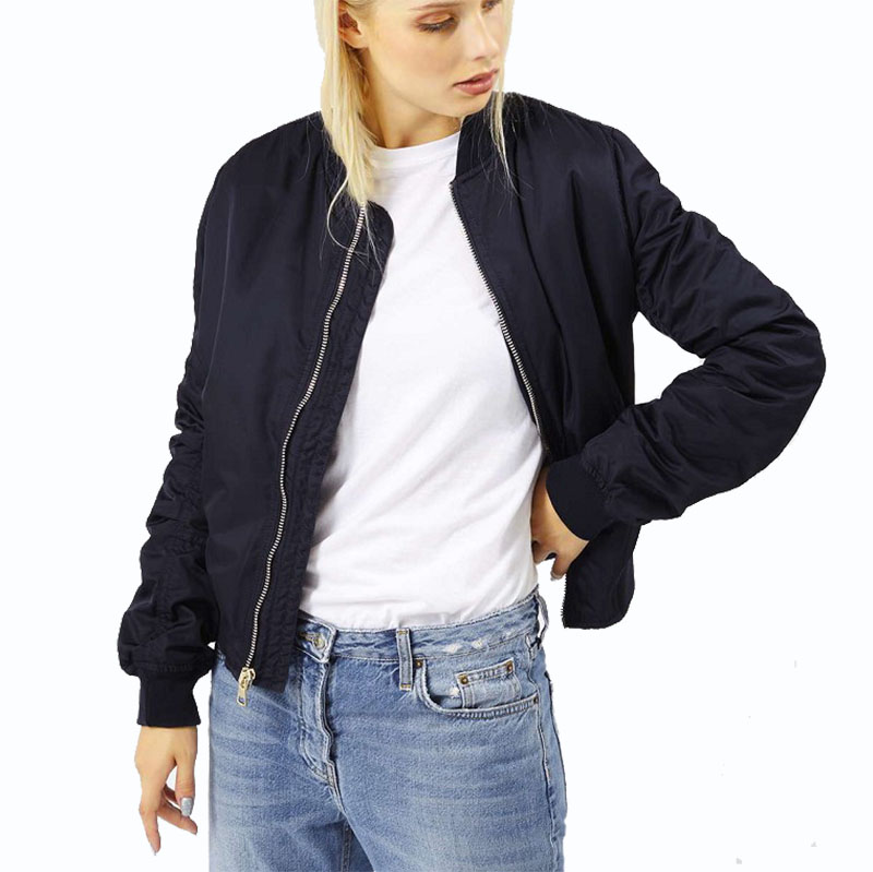 Army Green Zipper Bomber Jacket Women Military Flight Ladies Biker Womens  Girls Black Bomber Jackets Jack mujer 7-in Basic Jackets from Women s  Clothing on ... 093787338
